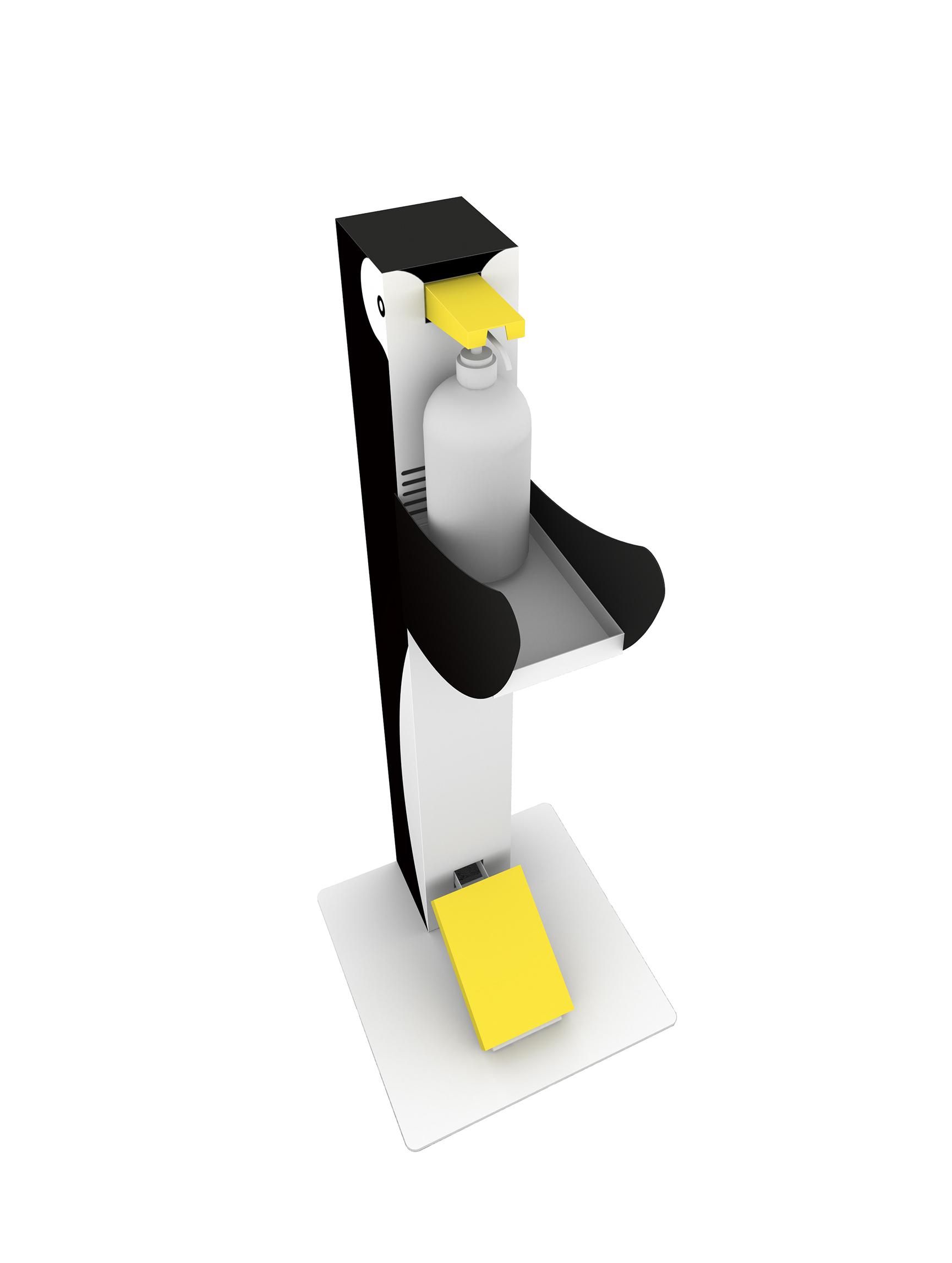 アルコール消毒液スタンド(ペンギン)